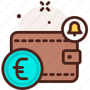 bank, finance, fiscal, money, notifcation, payment, wallet icon