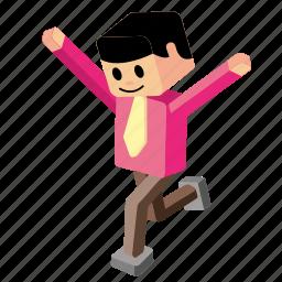 achievement, fun, joy, run, running, success, successful icon