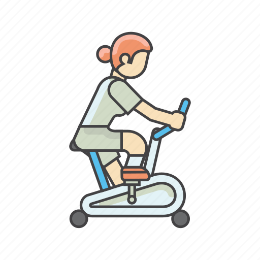 biking, cycling, exercises, fitness, gym, workout icon