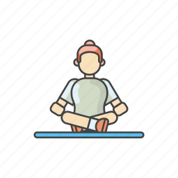 exercises, fitness, gym, healthy, meditation, workout, yoga icon
