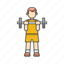 aerobics, bodybuilding, dumbbells, exercises, fitness, gym, man exercising