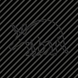 aardvark, mammal, small land mammal icon