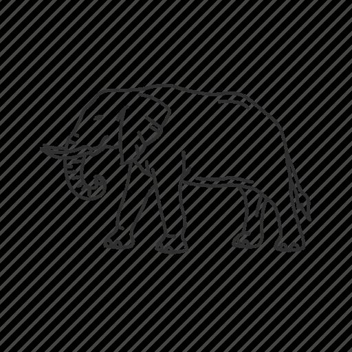 elephant, large land mammal, mammal icon