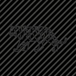 big cat, felidae family, large land mammal, mammal, tiger icon