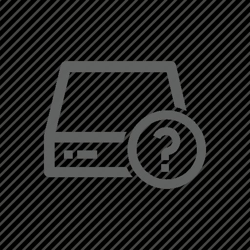 drive, external drive, help, question, question mark, server icon