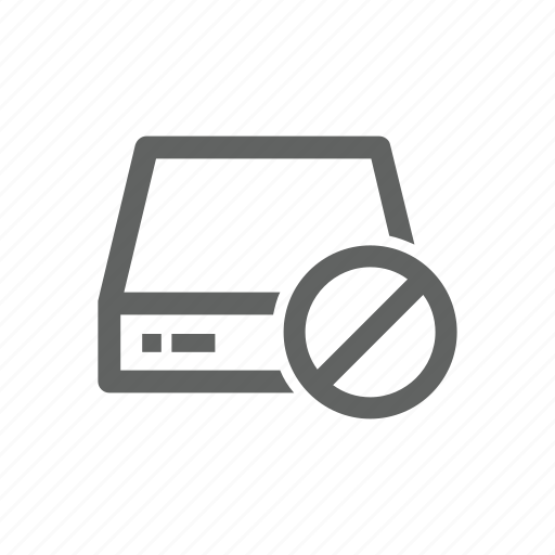 block, drive, error, external drive, server, warning icon
