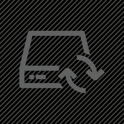 arrow, drive, external drive, server, sync, synchronize, update icon