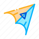glider, hang, extreme sport, hang glider icon