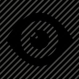 eye, eyelashes, face, optic, watch icon