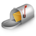 mail, mail box icon