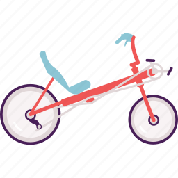 activity, bike, cycle, cycling, modern, recumbent icon