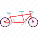 activity, bike, cycle, cycling, tandem bike icon