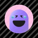 laugh, face, emoticon, emoji, expression, feeling, emotion