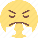 angry, crying, emoji, face, happy, sick, smile icon
