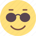 cool, emoji, emoticon, emotion, feeling, smile, smiley