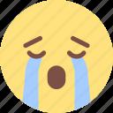 crying, emoji, expression, happy, sad, smiley