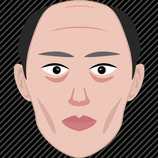 chinese, face, man, old, senior, shape, sick icon