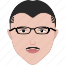 employee, employer, face, man, office, shape, spectacles icon