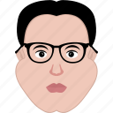boss, face, man, office, plump, shape, spectacles icon