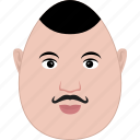 egg, face, guy, man, middle-age, moustache, shape icon