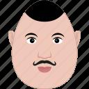 egg, face, guy, man, middle-age, moustache, shape icon