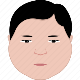 face, fat, guy, hair, man, round, shape icon