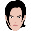 face, guy, hair, long, man, modern, shape icon