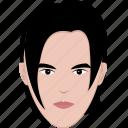 face, guy, hair, long, man, modern, shape icon