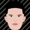 short, modern, young, face, hair, shape, man
