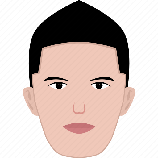 face, hair, man, modern, shape, short, young icon