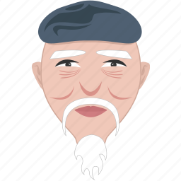 elderly, face, grandfather, man, old, shape, uncle icon