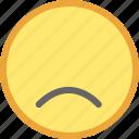 emotion, face, smiley, unhappy icon