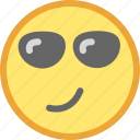 cool, emotion, face, smiley icon