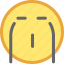 cry, emotion, face, smiley icon