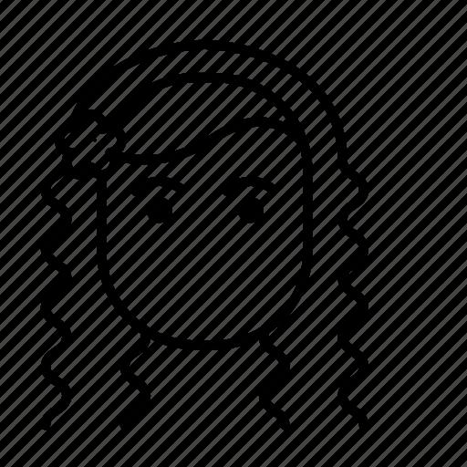 avatar, face, hair style, woman icon