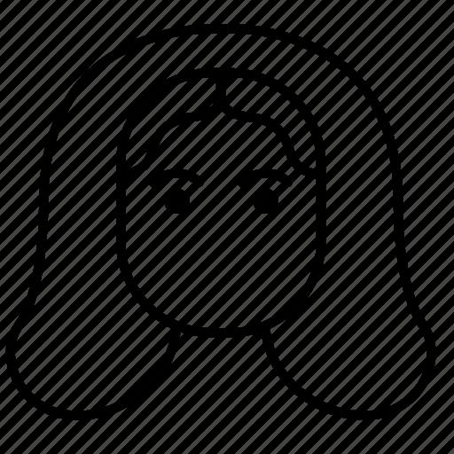 avatar, female, hair style, woman icon