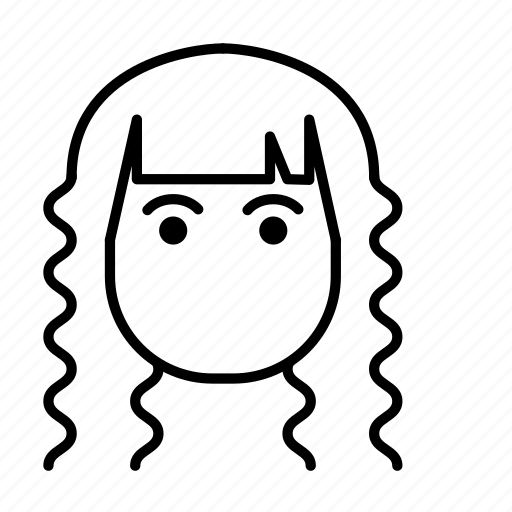 avatar, fashion, hair style, woman icon