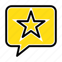chat, favorite, message, star icon
