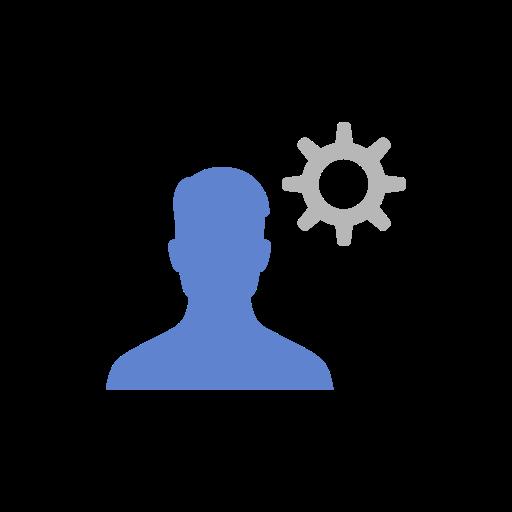 edit audience, edit profile, friend request, settings icon