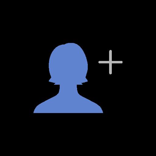 add, add friend, add user, friend list icon