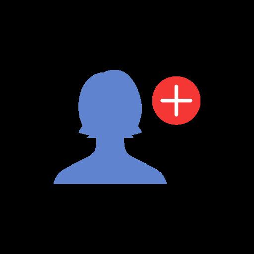 add, add contact, add user, friend request icon