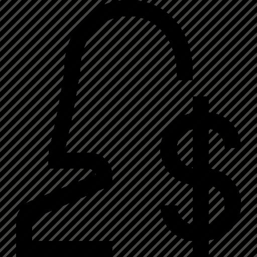 avatar, dolar, face, female, girl, sign, woman icon