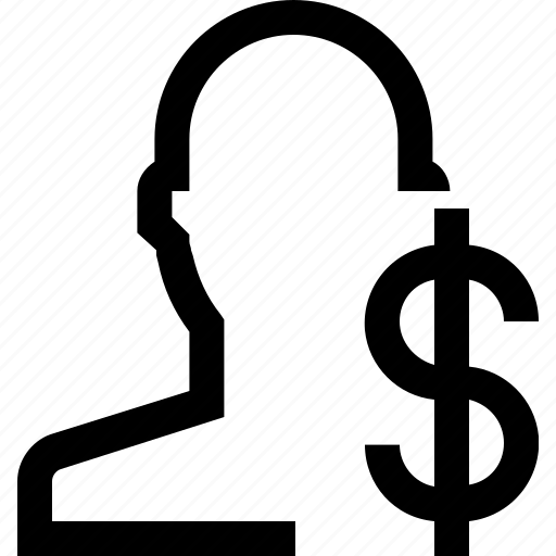 avatar, boy, dolar, face, male, man, sign icon