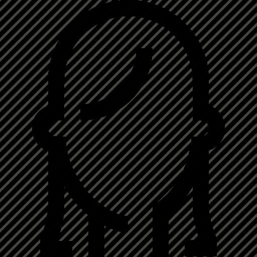 avatar, face, female, girl, hair, long, woman icon