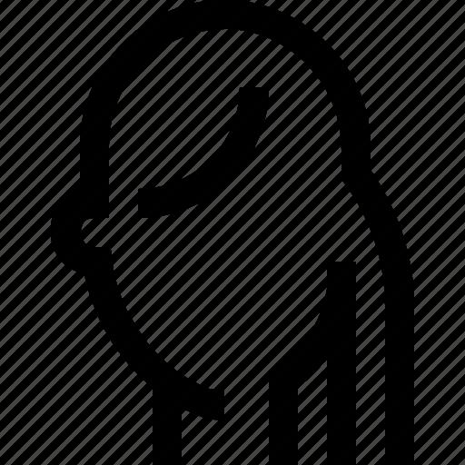 face, female, hair, horse, long, tail, woman icon