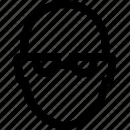avatar, bald, face, glasses, male, man, short icon