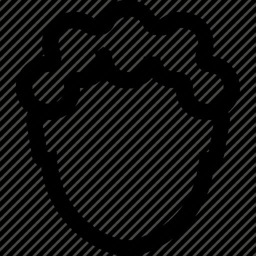 avatar, curly, face, hair, male, man, short icon