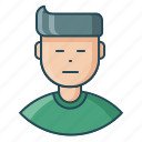 avatar, deadpan, employee, expression, feeling, man, neutral icon