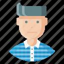 avatar, employee, expression, feeling, man, neutral, sad