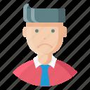 avatar, employee, expression, feeling, man, sad, unhappy